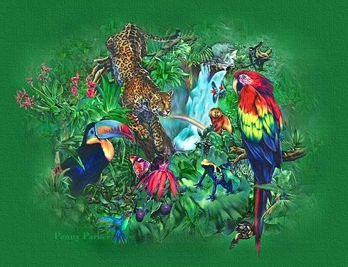 perroquet art digital